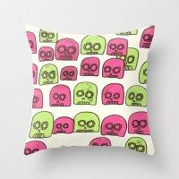 doom Throw Pillows featuring Doom Drops by Pete Benda
