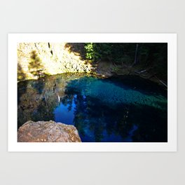 Blue Pool Art Print