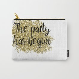The party has begun - golden jazz Carry-All Pouch