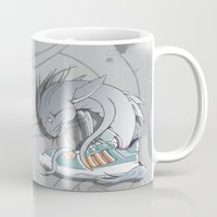 sneaker Mugs featuring Sneaker Monster by Hexstatic