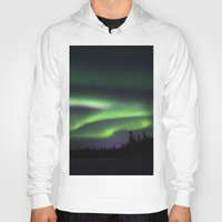 northern lights Hoodies featuring Northern Lights by Pamela Barron