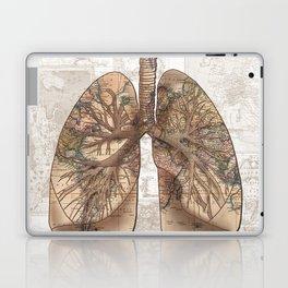breathe the adventure-world map 1 Laptop & iPad Skin