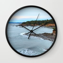 Sunset at Boiler Bay, Oregon Wall Clock