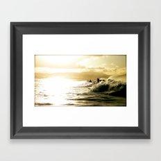 Surf Sunset Framed Art Print