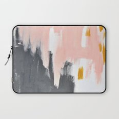 Gray and pink abstract Laptop Sleeve