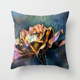 Gold Rose Collection. Throw Pillow