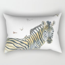 Zebra and Birds Rectangular Pillow