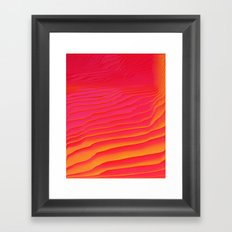 Heat Burst Framed Art Print