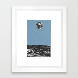 Earth from the Moon Framed Art Print