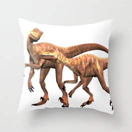 Velociraptor ..  animal design Throw Pillow