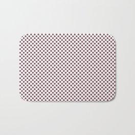 Crushed Berry Polka Dots Bath Mat