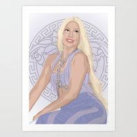 versace Art Prints featuring Versace Queen by AdamAether