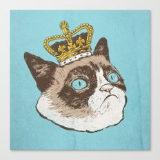 Grumpy King Canvas Print
