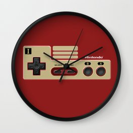 Classic retro Red Gold game controller iPhone 4 5 6 7 8, tshirt, mugs and pillow case Wall Clock