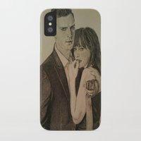 allyson johnson iPhone & iPod Cases featuring JAMIE DORNAN - DAKOTA JOHNSON by Virginieferreux