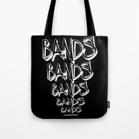 bands Tote Bags featuring BANDS! by K'VAL