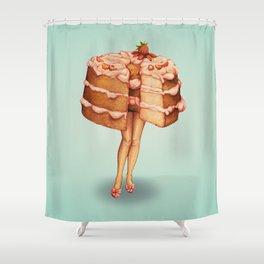 Cake Girl - Angel Food Shower Curtain