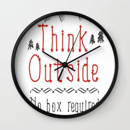 Think Outside – No Box Required Wall Clock