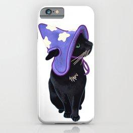 Lucky Black Cat Familiar Purple Witch Costume Halloween Pet Portrait iPhone Case