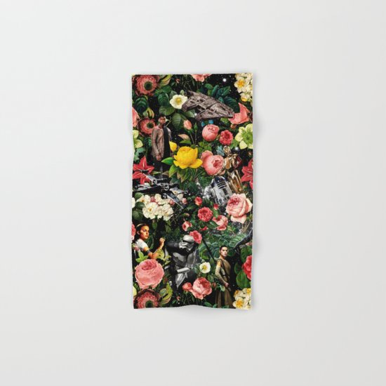 1977-2016 Starwars and Floral Pattern  Hand & Bath Towel