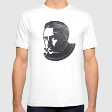 Edward Norton White Mens Fitted Tee SMALL
