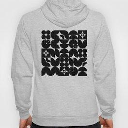 Black & White Mid Century Modern Pattern Hoody