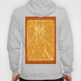 Mottled Red Poinsettia 2 Outlined Orange Hoody
