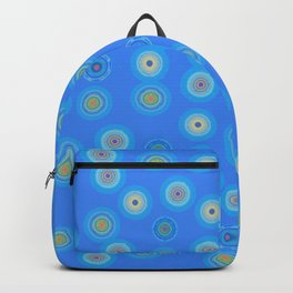 Spots and Dots on Blue Backpack