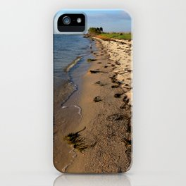 Watercolor Landscape, Janes Island 01, Maryland iPhone Case
