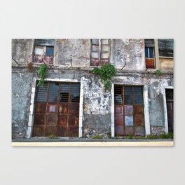 Old Sicilian facade of Taormina Canvas Print