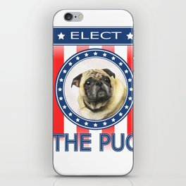 Elect The Pug iPhone Skin
