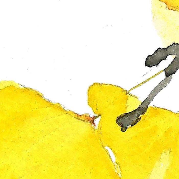 Golden Ginkgo Leaves Leggings