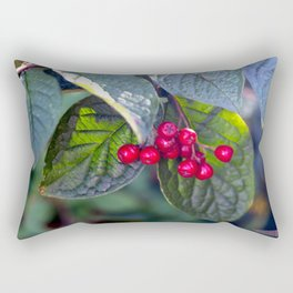 Poison or not : Red berries Rectangular Pillow