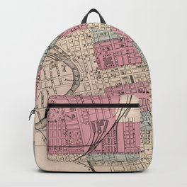 Vintage Map of Columbus Ohio (1868) Backpack