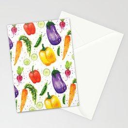 Very Veggie Pattern Stationery Cards