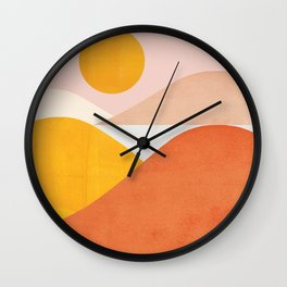 Abstraction_Mountains Wall Clock