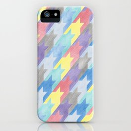 Multicoloured Houndstooth iPhone Case