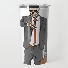 Business Skull Travel Mug