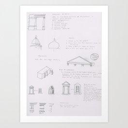 Architectural Elements page 2 Art Print
