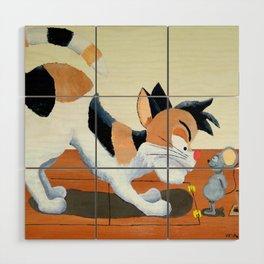 Cat Trap Wood Wall Art