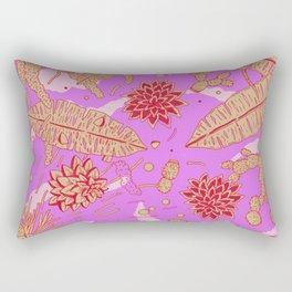 Warm Flower Rectangular Pillow
