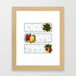 Christmas banners Framed Art Print