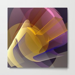 Modern colourful abstract with optical effects Metal Print