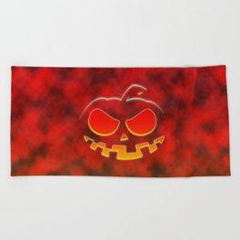 Screaming Pumpkin Beach Towel