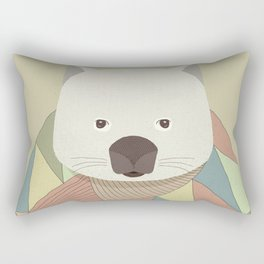 Whimsical Wombat II Rectangular Pillow