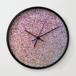 Rainbow Glitter Wall Clock