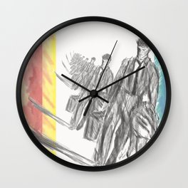 Walking Home in Time Wall Clock