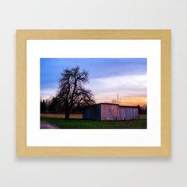 The wooden barn Framed Art Print