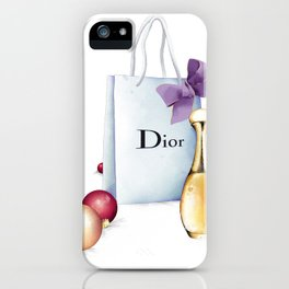 Shopping at Christmas iPhone Case