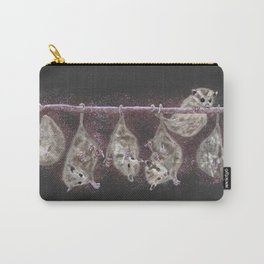 Possum Family - Grey Carry-All Pouch